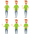 Male hipster characters set vector image vector image