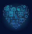 math heart blue on dark vector image