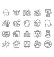 medical icons set included icon as face accepted vector image vector image