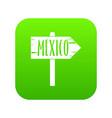 mexico wooden direction arrow sign icon digital vector image vector image