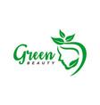 natural beauty salon logo vector image vector image