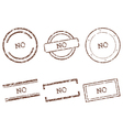 No stamps vector image vector image