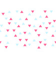 pink blue colorful abstract triangles retro paper vector image vector image