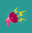 pink retro megaphone vector image vector image