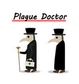 plague doctor side view in flat vector image vector image