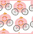 princess cinderella seamless pattern vector image