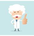 Professor show thumb up vector image