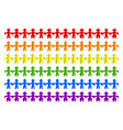 rainbow flag made paper people vector image