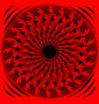 red fantasy flower in optical art style vector image vector image