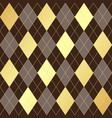 seamless geometric pattern with golden and brown vector image