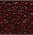 seamless pattern with the face of a naughty boy vector image vector image