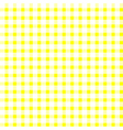 Seamless retro white-yellow square tablecloth vector image