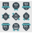 set of anniversary banners vector image vector image