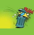 smartphone thrown in the trash vector image vector image