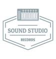sound studio logo simple gray style vector image