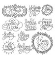 spring time calligraphy set vector image vector image