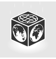 Square world vector image vector image