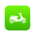 vespa scooter icon digital green vector image