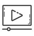 video marketing line icon seo and development vector image vector image