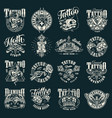 vintage tattoo salon emblems vector image vector image
