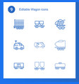 wagon icons vector image vector image