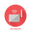 wifi router flat style icon wireless technology vector image
