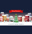 winter christmas holidays city vector image vector image