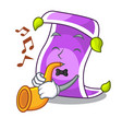 with trumpet cartoon fairytale story and magic vector image vector image