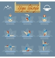 Yoga poses icons vector image vector image