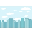 City of skyscrapers horizontal seamless pattern vector image
