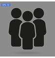 crowd people vector image