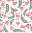 flamingo seamless background vector image