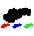 3d map of slovakia vector image vector image