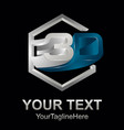 3d text shape icon logo 3d shape rengering design vector image vector image