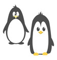 abstract cute angry cartoon pinguin isolated on a vector image vector image