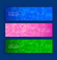 abstract geometric triangle shapes banners in vector image