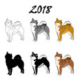 an image of a dog breed of vector image vector image