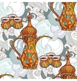 Arabic coffee maker dalla with cups vector image vector image
