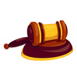 bang decision gavel icon cartoon style vector image