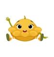 Big Eyed Cute Girly Star Shaped Marrow Character vector image vector image