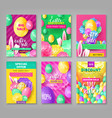 big set easter coupons vector image