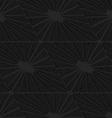 Black textured plastic diamonds ray cut vector image vector image