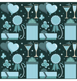 blue party pattern vector image
