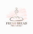 bread bakery watercolor logo on white background vector image