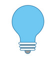 bulb light isolated icon vector image vector image