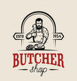 butchery butcher design element for logo label vector image vector image