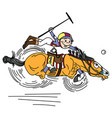 cartoon polo player vector image vector image