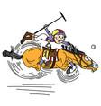 cartoon polo player vector image