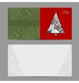 Christmas card doodle pattern tree for your vector image vector image