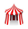 circus tent isolated 3d realistic cartoon design vector image